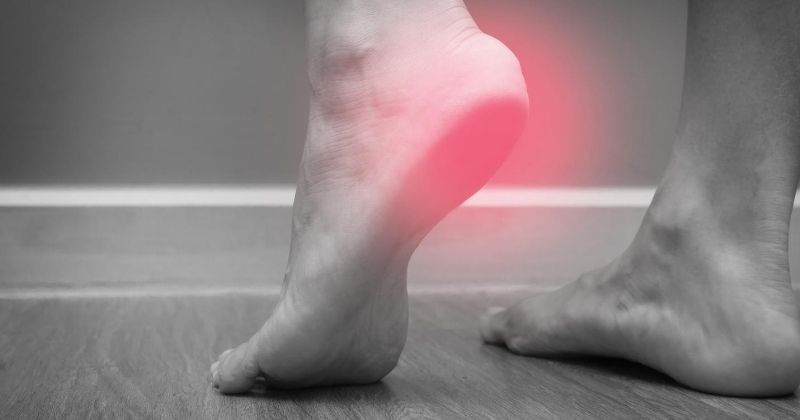 Pain from heel spurs