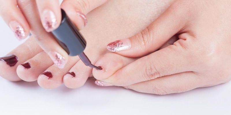 pretty pinky toenail